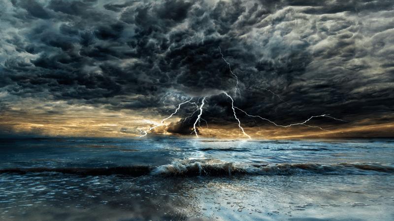 Thunderstorm Beach