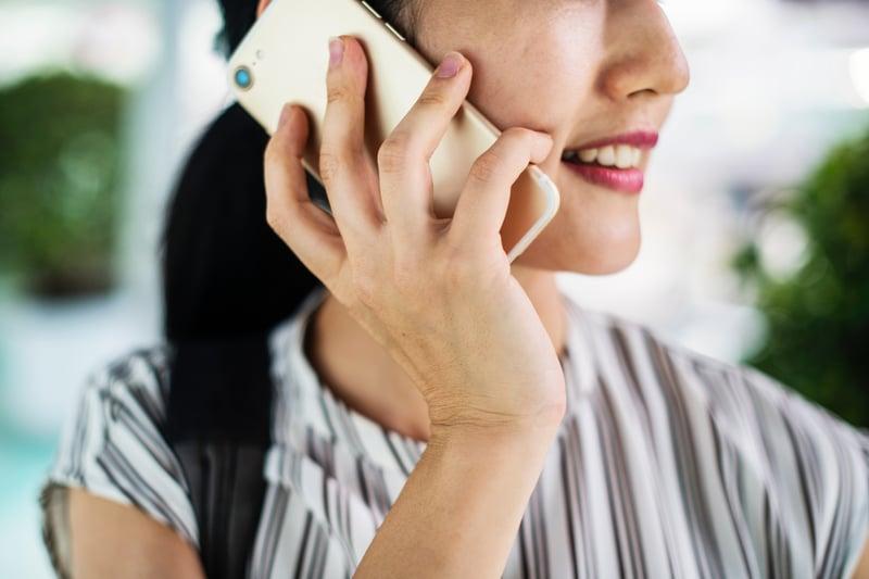 Woman Taking Call